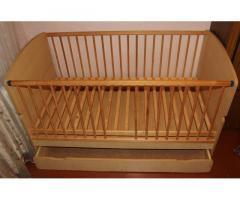 Ліжечко, ліжко, кроватка, кровать-трансформер з матрацом до 10 років