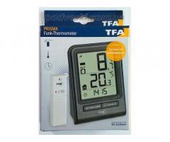 Цифровой термометр для комнаты и улицы с радиодатчиком TFA Prisma. Акция!
